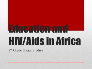 Education and HIV