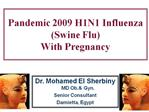 Pandemic 2009 H1N1 Influenza Swine Flu  With Pregnancy