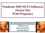 Pandemic 2009 H1N1 Influenza Swine Flu  With Pregnancy
