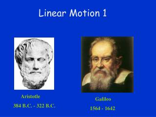 Linear Motion 1