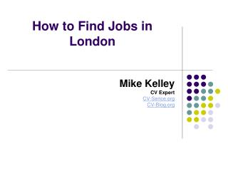 How to Find Jobs in London