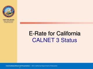 E-Rate for California CALNET 3 Status