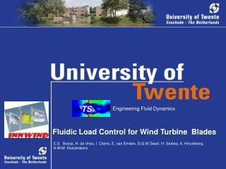 Fluidic Load Control for Wind Turbine  Blades