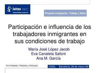 Participaci n e influencia de los trabajadores inmigrantes en sus condiciones de trabajo