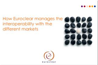 How Euroclear manages the  interoperability with the different markets