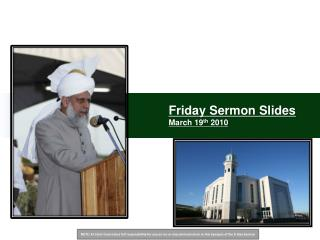 Friday Sermon Slides March 19th 2010