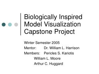 Biologically Inspired  Model Visualization Capstone Project
