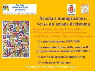 Scuola e immigrazione: verso un azione di sistema