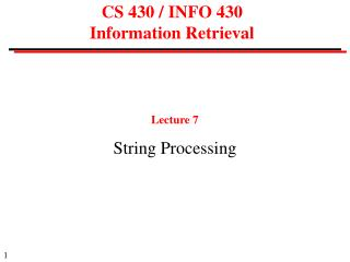 CS 430