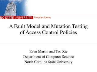 A Fault Model and Mutation Testing of Access Control Policies