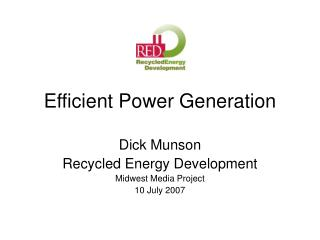 Efficient Power Generation