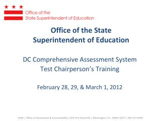 Office of the State  Superintendent of Education