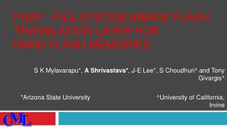 FSAF - File System Aware Flash Translation Layer for NAND Flash Memories