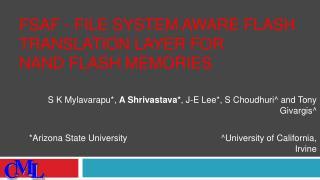 FSAF - File System Aware Flash Translation Layer for NAND Flash Memories