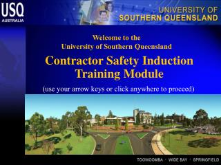 Contractor Safety Induction  Training Module