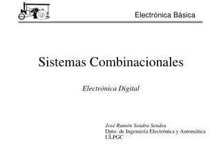 Sistemas Combinacionales    Electr nica Digital
