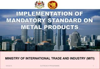 MINISTRY OF INTERNATIONAL TRADE AND INDUSTRY MITI