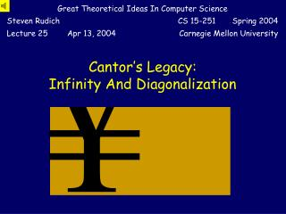 Cantor s Legacy:  Infinity And Diagonalization