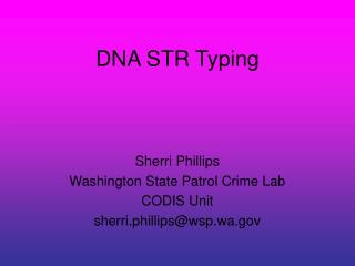 DNA STR Typing