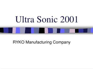 Ultra Sonic 2001