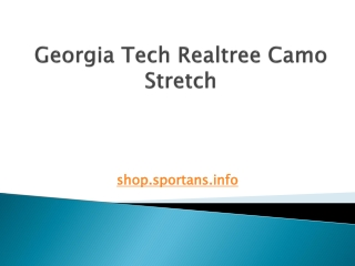 Georgia Tech Realtree Camo Stretch