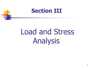 Load and Stress Analysis