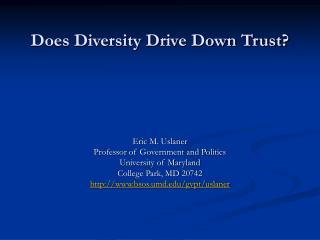 Does Diversity Drive Down Trust?