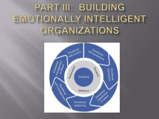 Part III:  Building Emotionally Intelligent Organizations