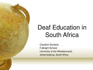 Deaf Education in  South Africa