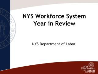 NYS Workforce System Year in Review