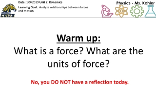 Unit 2.1 Force and Motion