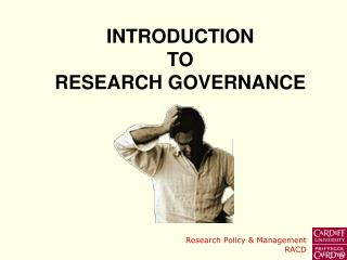 INTRODUCTION TO  RESEARCH GOVERNANCE