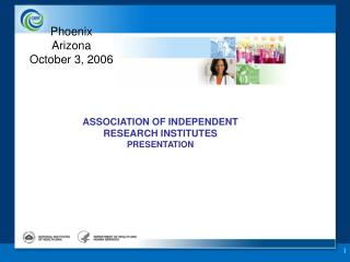 ASSOCIATION OF INDEPENDENT  RESEARCH INSTITUTES  PRESENTATION