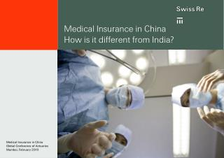 Medical Insurance in China How is it different from India