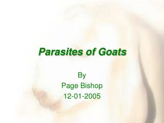 Parasites of Goats