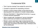 Fundamental SOA