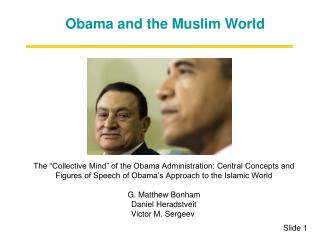 The  Collective Mind  of the Obama Administration: Central Concepts and Figures of Speech of Obama s Approach to the Isl