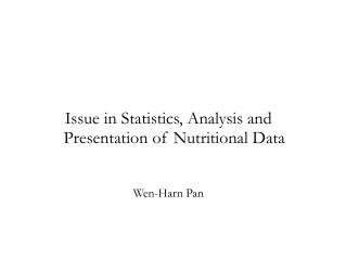 The underlying objectives of data analysis and presentation   learn as much as possible present w