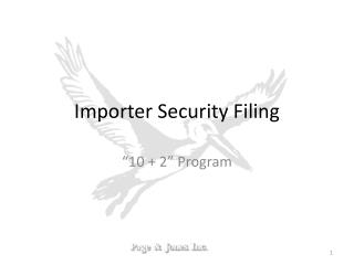 Importer Security Filing