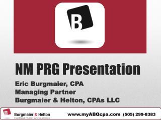 NM PRG Presentation