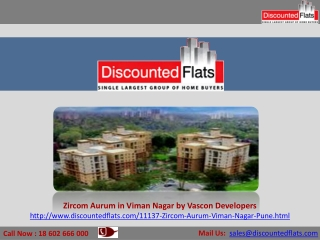 Zircom Aurum – Viman Nagar, Pune by Vascon Developers