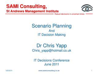 SAMI Consulting,  St Andrews Management Institute