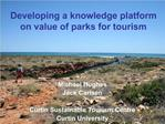 Developing a knowledge platform on value of parks for tourism