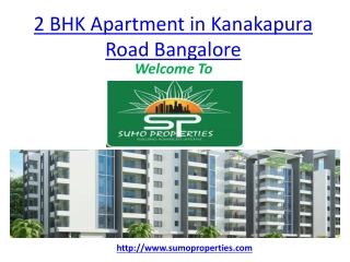 2 BHK Apartment in Kanakapura Road Bangalore