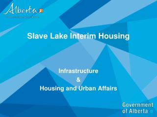 Slave Lake Interim Housing