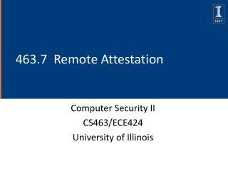 463.7  Remote Attestation