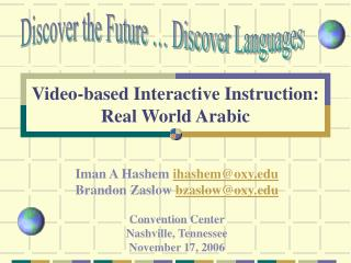 Video-based Interactive Instruction: