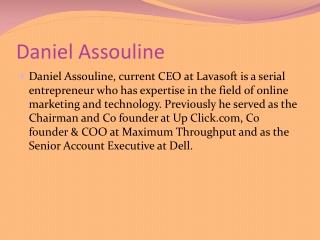 Daniel Assouline considers Ecommerce