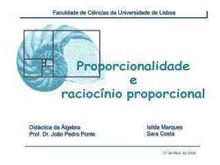 Faculdade de Ci ncias da Universidade de Lisboa