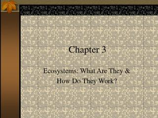 Ecosystems: What Are They   How Do They Work